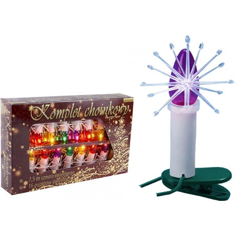 Lampki choinkowe tradycyjne świeczki...